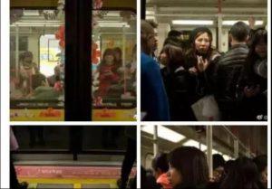 紐時:廣州地鐵「女性車廂」中擠滿了男人
