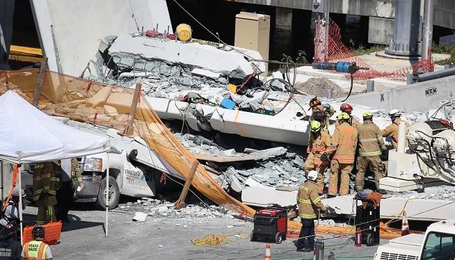 美佛州新橋坍塌 8車被埋 至少6死10人受傷送院
