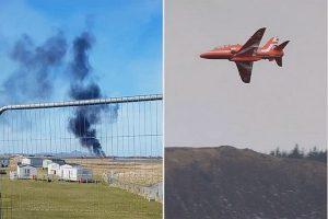 英特技红箭喷射机坠毁 飞行员弹出酿1死1伤