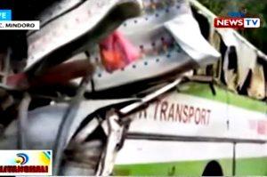 菲國客運打滑墜崖 至少19死21傷