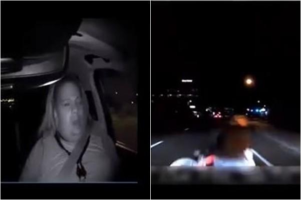 从黑夜中窜出 警方公布Uber撞死行人视频
