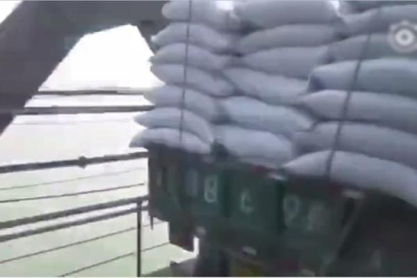 網傳大批貨車運送物資 經鴨綠江大橋送往朝鮮(視頻)