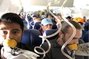 """引擎空中爆炸以为""""死定了"""" 乘客直播向孕妻道别"""