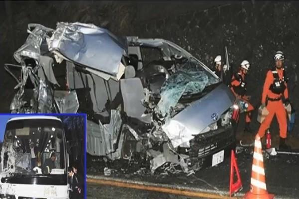 在日陸客旅遊巴與休旅車相撞 17人輕重傷