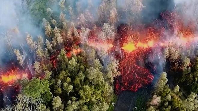 夏威夷火山爆发 熔岩流入住宅区 强撤万名居民(视频)