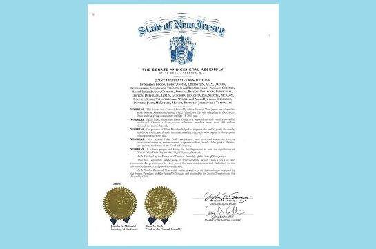 新泽西州参众议院联合决议恭贺法轮大法日