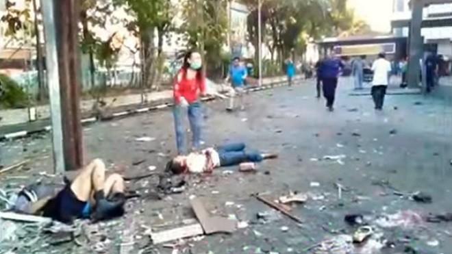 印尼3座教堂連遭攻擊 爆炸火勢猛烈死傷慘重(視頻慎入)