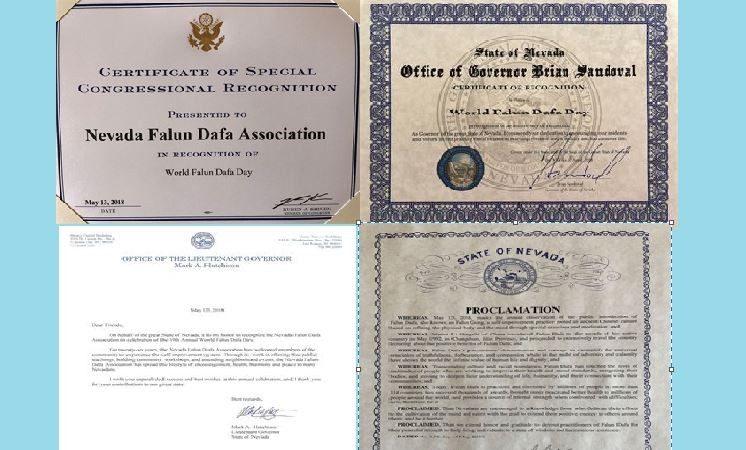 美国拉斯维加斯政要褒奖祝贺世界法轮大法日