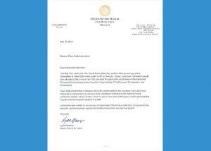 美国密苏里州圣路易市长祝贺法轮大法日