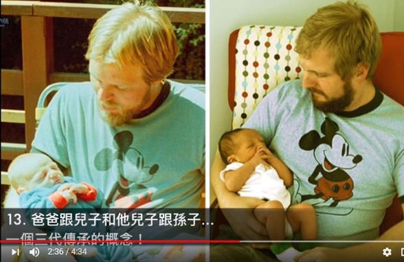遺傳基因超強大 親子照3代超激似(視頻)