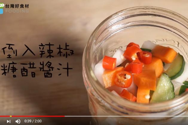 原来做泡菜也可以这么简单 一个玻璃罐完成(视频)
