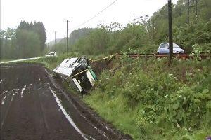 日本青森高中足球队校车翻覆 38人伤势不明