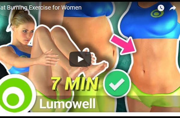 腹部脂肪燃烧锻炼 简单快速有效(视频)