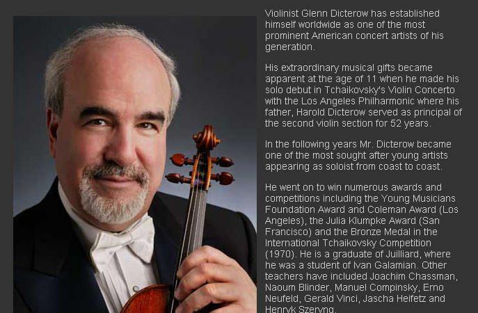 曼哈顿将举行小提琴大师迪克特若大师班
