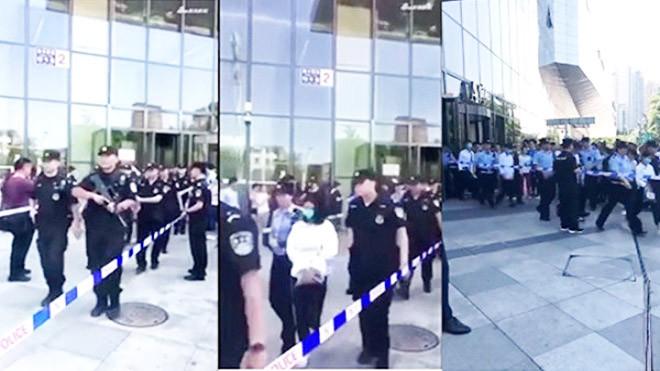 北京特警突袭万达大楼抓上百人 现场视频流出