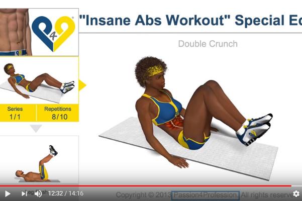 男女瘦腹运动 打造完美腹肌(视频)