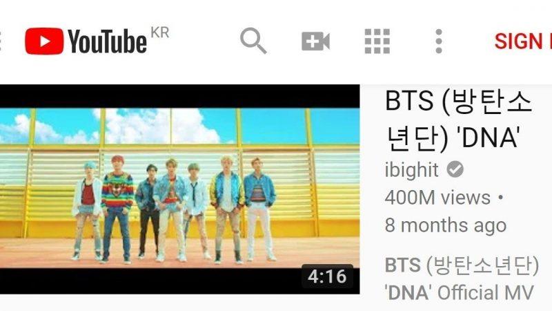韓團最初! BTS《DNA》MV播放量突破4億