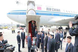 中國領導人專機從北京啟程 飛往新加坡
