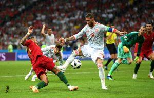 世界盃第三場葡萄牙3比3戰平西班牙