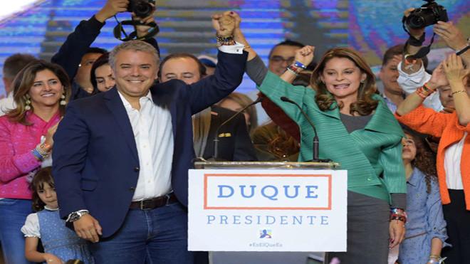 哥倫比亞總統大選 政壇新星杜克勝出