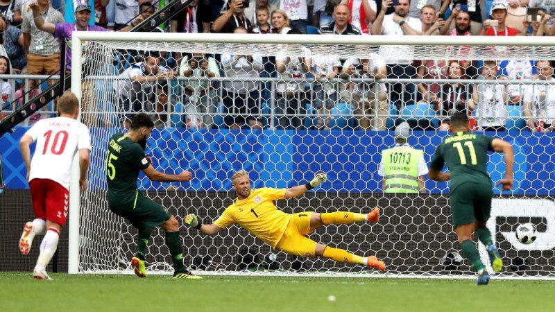 丹麥天才第7分鐘率先破門 遭澳洲踢平