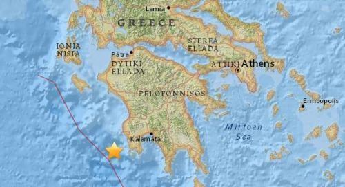 希腊外海5.5地震深度30公里 尚未传出灾损
