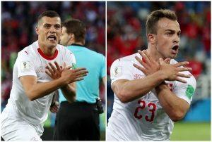 瑞士主將雙頭鷹手勢 FIFA:罰款不停賽