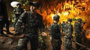 泰国13师生受困洞穴第5天 美军加入救援