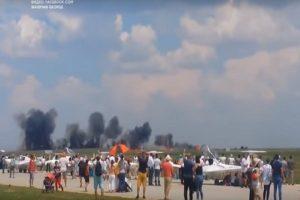 避开观众迫降 罗马尼亚战机失事飞官坠毁身亡(视频)