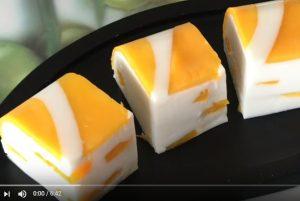 芒果椰汁糕 很漂亮很简单(视频)