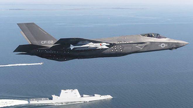 中美口水戰變扳手腕 美艦滿載F35部署西太平洋