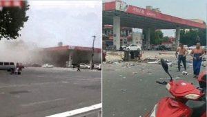 河南加油站突然爆炸 网传因手机扫码付款引发(视频)