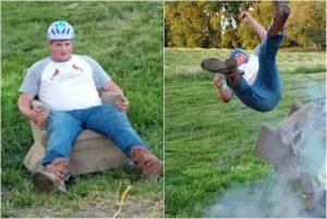 試坐安全氣囊被彈飛感覺 美漢下一秒反應樂壞攝影師