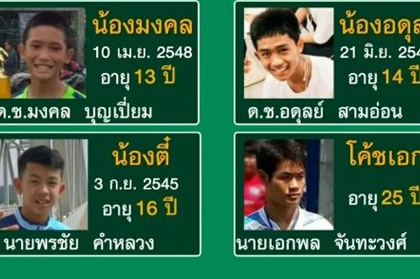 被困洞穴獲救「無國籍」教練及3小將獲泰國國籍