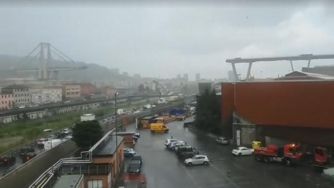意大利驚傳高架橋倒塌 救護部門:有數十人死亡(視頻)