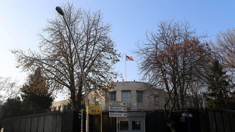美驻土耳其大使馆遭枪撃 枪手在逃无人伤
