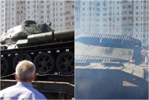 慶擊敗納粹75週年 俄坦克意外翻車