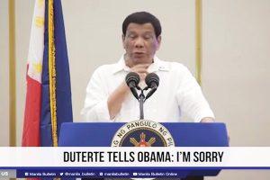 嗆奧巴馬「下地獄」 杜特爾特:向他道歉並原諒他