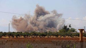 俄叙发动空袭 猛炸叙利亚反抗军最后据点