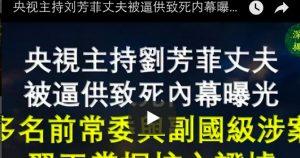 刘芳菲丈夫致死内幕曝光 多名前常委与副国级高官涉案 习王掌握核心证据