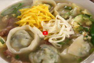 饺子汤、韭菜牛腩饺子 家庭简单做法(视频)
