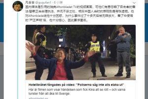 嚎哭中自行倒地 匿名拍摄者瑞典事件视频曝光