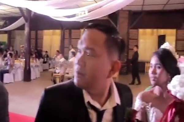 驚聲尖叫!山竹「賀婚」 宴會場玻璃碎裂一片漆黑