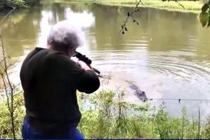 为宠物马报仇 美73岁老妇打死3.7米长鳄鱼