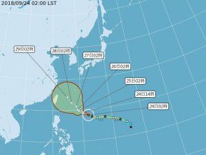 颱風潭美午後轉強颱 不排除侵台