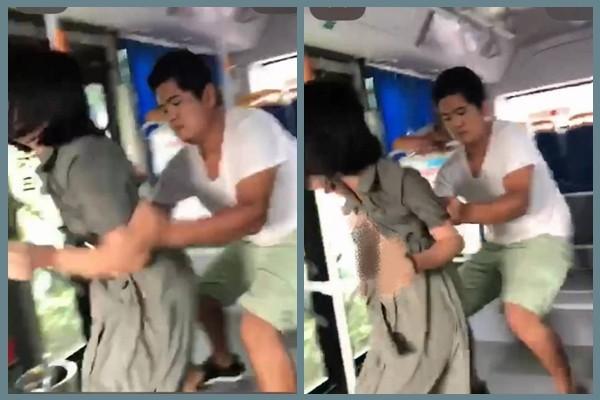 陆男公车当众猥亵女子 受害女绝望哭叫无人帮(视频)