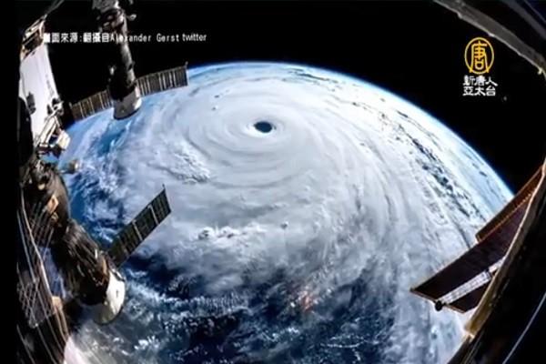 潭美紮實颱風眼 太空人警告:台灣、日本要注意安全