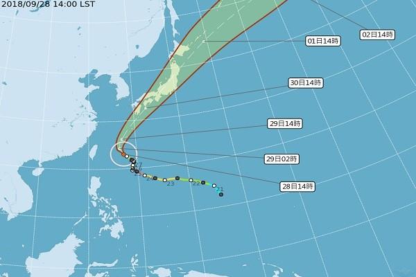 台风潭美急转加速北上 预计贯穿全日本