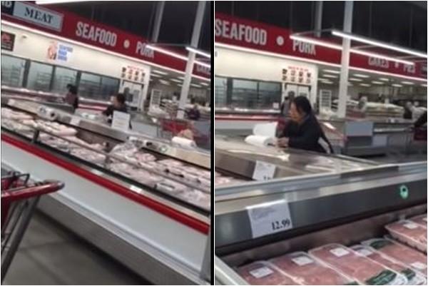 加拿大超市华人大妈猛拿免费纸 网友汗颜:请按住你的手