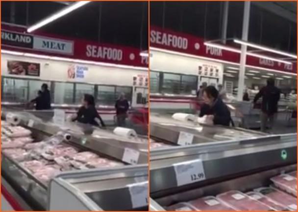 """中国大妈加国超市偷塑胶袋和纸巾 网民斥""""丢人"""""""